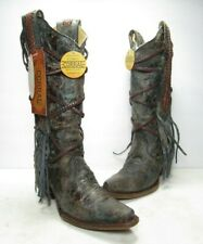 Corral Braided Overlay and Studs Western Boots, Women's Size:6 Medium (B744)