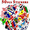 50pcs Mixed Travel World Map Stickers National Flags Surface Travel Luggage