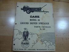 Case Model 80 Ground Driven Spreader Parts Manual Catalog 1962 828