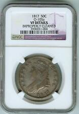 "NGC VF Details 1817 Overton 105a Bust Half Dollar ""Die Break!"""