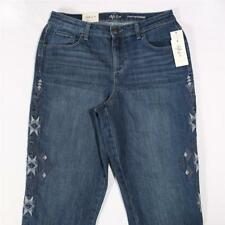 LP275 Style&co Women's Curvy Fit Embroidered Boyfriend Jeans NWT Size 8 X 29