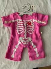 build a bear Pink Skeleton Heart  Suit New