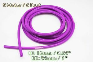 2 METRE PURPLE SILICONE VACUUM HOSE AIR ENGINE BAY DRESS UP 16MM FIT HONDA