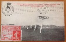 FRANCE 1909 PORT-AVIATION POSTCARD 12th OCTOBER.....VERY SCARCE