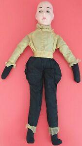 Vintage Antique Art Deco 20s Pierot Doll Poupée de Boudoir Restoration Long Limb