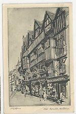 Raphael Tuck Postcard, Old Houses, Holborn - Posted 1946