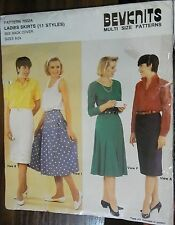 Bevknits Ladies skirts 11 styles Pattern 7002A multisizes 8-24 years