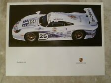 1997 Porsche 911 GT1 Coupe Showroom Advertising Sales Poster RARE!! Awesome L@@K