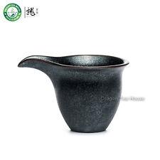 Black Ceramic Chahai Chinese Gongfu Tea Fair Cup Serving Pitcher Creamer 130ml