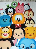 100/% Cotton Patchwork Fabric Springs Creative Disney Tsum Tsum Friends Stack