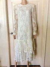New listing Vintage Miss Elliette 80s Formal Lace Wedding Cocktail Party Dress Sz.12