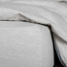 Washed European Flax Linen Blend Fitted Sheet - Soft and 100% Natural Fabric
