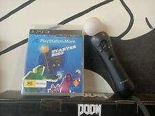 Sony PlayStation MOVE Wireless Controller/starter disc game (PS3 PS4 VR PS psvr)