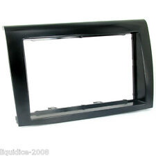 CT24FT21 FIAT BRAVO 2007 to 2014 GLOSSY BLACK DOUBLE DIN FASCIA ADAPTER PANEL