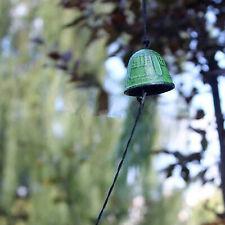 Campana de templo japonés Carillón De Viento Decoración Hogar Jardín Colgar Sonido Chapaleta Verde