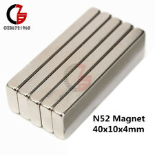 N52 Magnets 40x10x4mm Rectangle Cube NdFeB Magnetic Rare Earth Neodymium