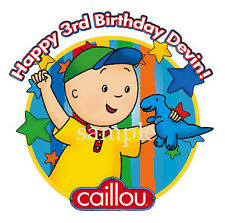 CAILLOU Edible CAKE Image Icing Topper Personalized Frosting Sheet FREE SHIPPING