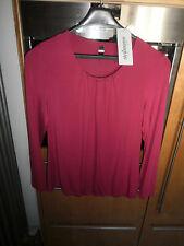 STEILMANN Langarm Shirt mit Perlen am Ausschnitt Gr.44 dunkelpink Neu 35,99€