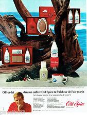 PUBLICITE ADVERTISING 056  1965  old Spice coffret cadeau after-shave Eau Cologn