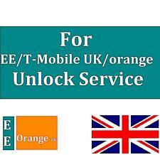 Unlocking Service FOR EE ORANGE UK VIRGIN TMOBILE UK FOR IPHONE 7 6S 6+ 5 5S 4S