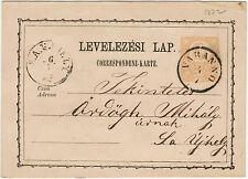 Ungarn 1872, 2 Kr. Ganzsachenkarte ab Varanno