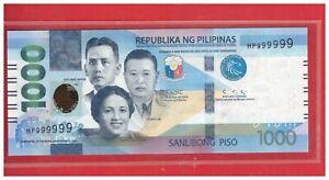 NEW Enhanced 2020 PHILIPPINES 1000 Peso NGC Duterte & DIOKNO Solid HP 999999 UNC