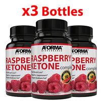 3X RASPBERRY KETONE 180 Tablets Weight Loss Fat Burner 1200mg NATURAL 60 TABS