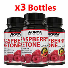3X RASPBERRY KETONE 180 Tablets Weight Loss Fat Burner 1200mg NATURAL 60 TABS