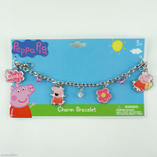 Peppa Pig Kids Charm Bracelet for Girls Accessories Jewelry