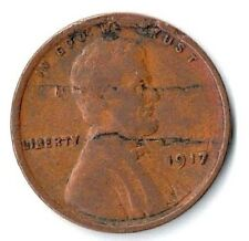 Coin Die Errors 1917 Lincoln Cent With Major Centered Die Crack