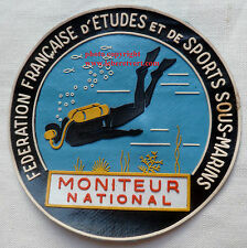 Insigne Patch MONITEUR NATIONAL PLONGÉE FFESSM FED. FR ETUDES SPORTS SOUS MARINS