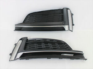 replacement 2018-19 S5 A5 front bumper cover lower LH RH side grille trim 2pc