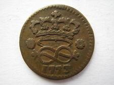 Italian States Sardinia 1773 copper 2 Denari VF