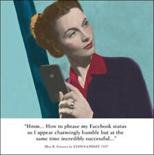 Facebook Status Funny Drama Queen Birthday Greeting Card Retro Humour Cards