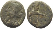 Ancient PERSIA 190-200 AD Seleukid Hedyphon  Elymais small AE Drachma Bow-Nice