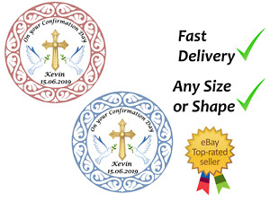 Confirmation cake topper edible icing or Wafer Personalised