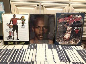 Vtg Michael Jordan 16X20 Framed Poster Lot 1992 Nike Starline 1995 Chicago Bulls