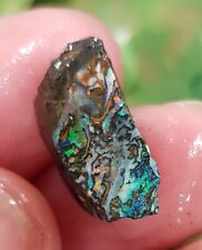 Australian Boulder Opal, 42 grams Natural Rough Koroit/Yowah Specimen 4 pcs