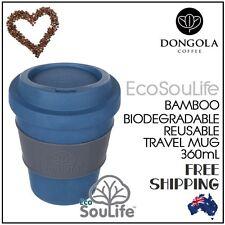 355mL Bio Sip Coffee Tea Travel Cup Mug Biodegradable Reusable Eco Friendly Navy