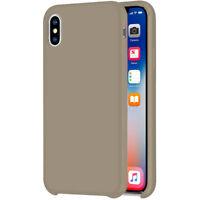 Liquid Funda de Silicona para Apple Iphone XS Max 6.5 Protectora TPU Piedra Gris