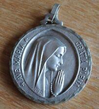 grosse médaille religieuse avé maria gratia plena signée fr. m-b