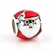 Silver Red Santa Clause Christmas Charm by Hearts of Pandora's Box