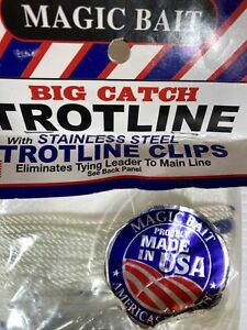 Magic Bait Big Catch 150 Feet Trotline #25 Size 1 Brass Swivels White 77BCTL