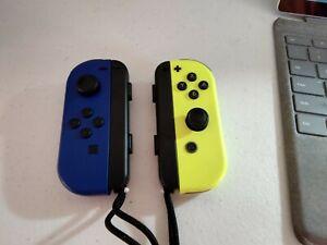 Nintendo Joy-Con Controller Blue/Neon Yellow perfect condition!!!!!!!!!