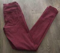 REFUGE Womens Size 2 Destroyed High Rise Super Skinny Denim Jeans Red Color