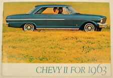 1963 CHEVY II NOVA ADVERTISING SALES COLOR BROCHURE