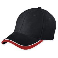myrtle beach Half-Pipe Sandwich Cap Cappy Kappe Baseballkappe Schwarz Weiß Rot