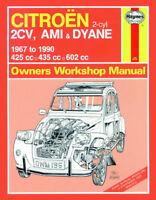 Citroen 2CV Ami Dyane 1967-90 Reparaturanleitung Workshop Repair Service Manual
