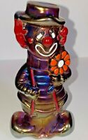 Boyd Art Glass Virgil The Clown Happy Sad Royal Plum Carnival #15 made 4/28/1995
