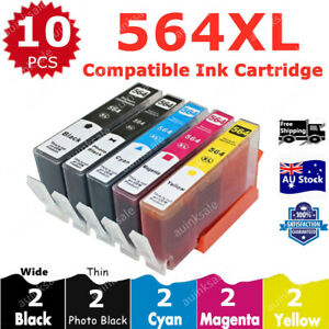 10X Non-OEM HP 564 XL Ink Cartridges For 5520 3520 6520 7520 4620 7510 Printer